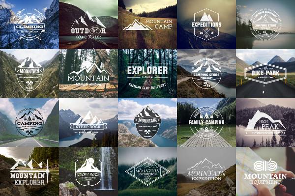 25 Adventure Badges & Logos