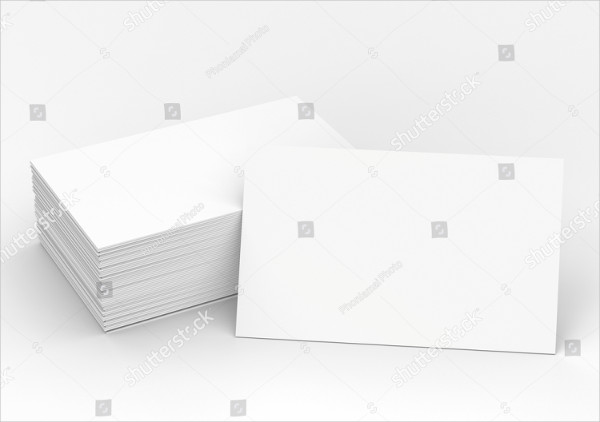 3D Rendered Stack of Blank Business Cards