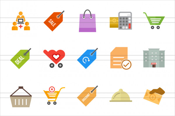 48 E-commerce Icons Set