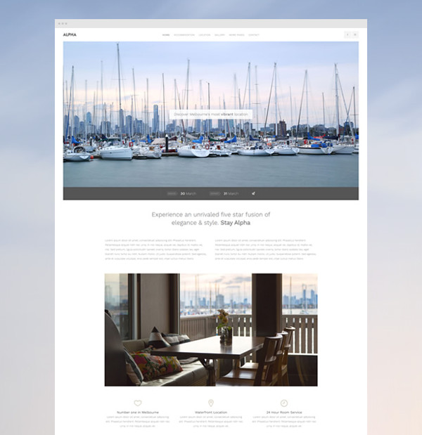 Alpha Hotel Website Template