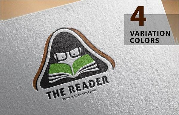Colorful Book Store Logo Design