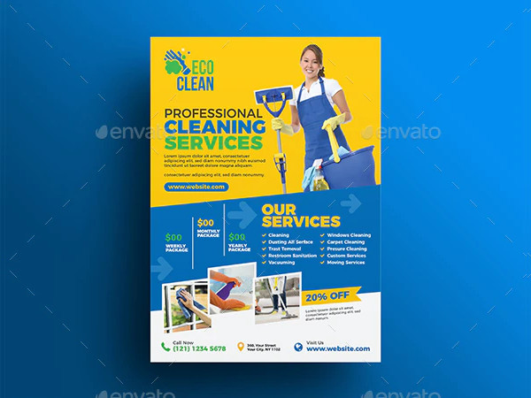 Cool Cleaning Advertising Flyer Template
