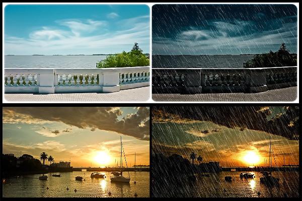Dark Rain Photoshop Actions