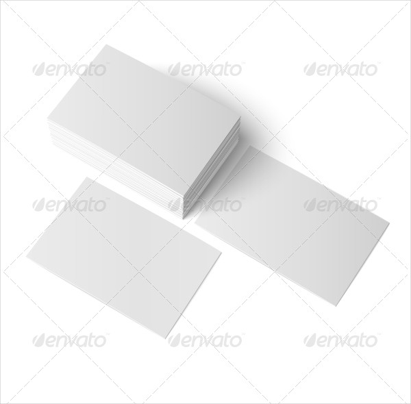 Realistic Blank Business Cards Set