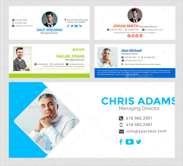 Email Signature Template Bundle 60 PSD & 60 HTML Files