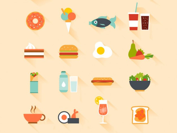 Favourite Meals Free Vector