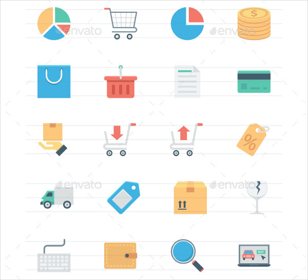 Flat Shopping and E-Commerce Icon