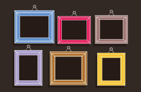 Free Colorful Frames Photo Collage Template