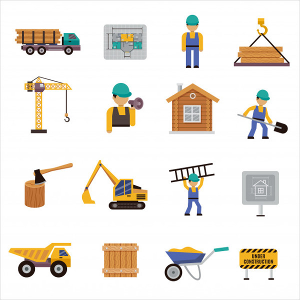 Free Download Flat Building Icons Pack