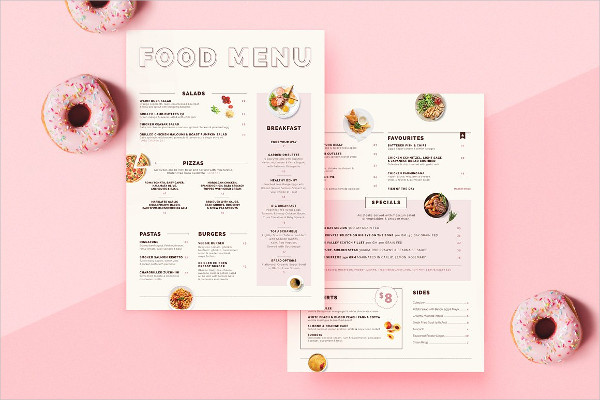 Fresh Food Menu Design