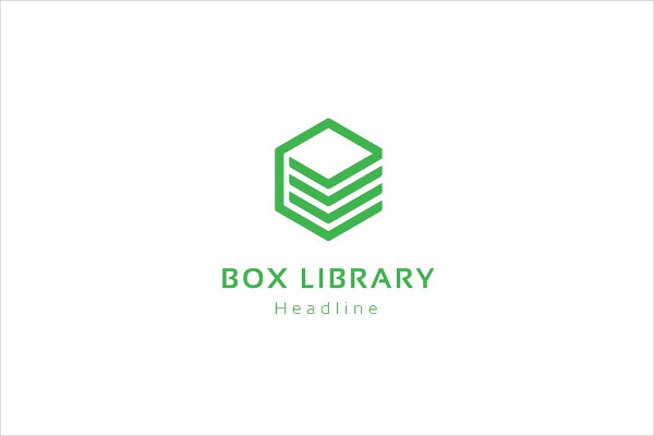 Fully Editable Box Library Logo Design