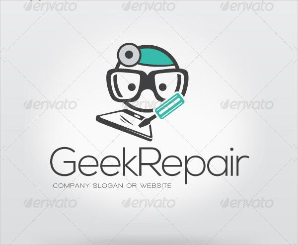 Geek Repairing Logo Design