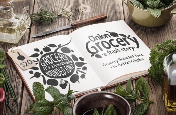 Grocery Rounded Handmade Font