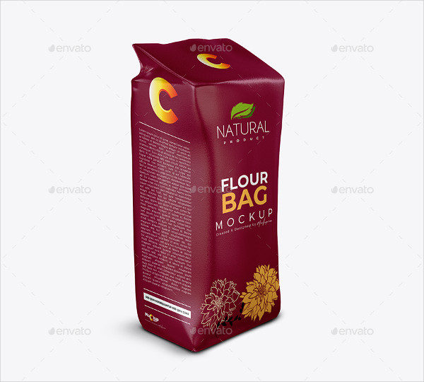 High End Photo Realistic Big Flour Bag Mockup