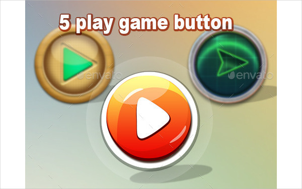 5 Play Game Buttons