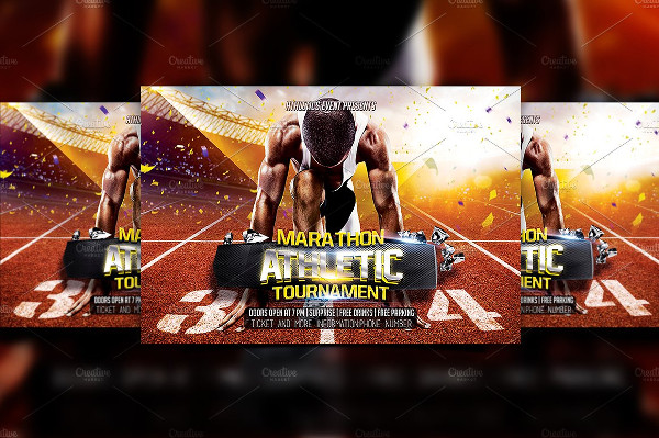 Marathon Athletic Flyer Template
