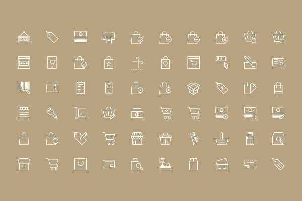 Online Shopping and Commerce Icons