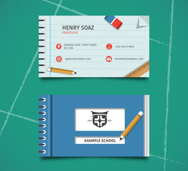 Professor Business Card Template Free Download