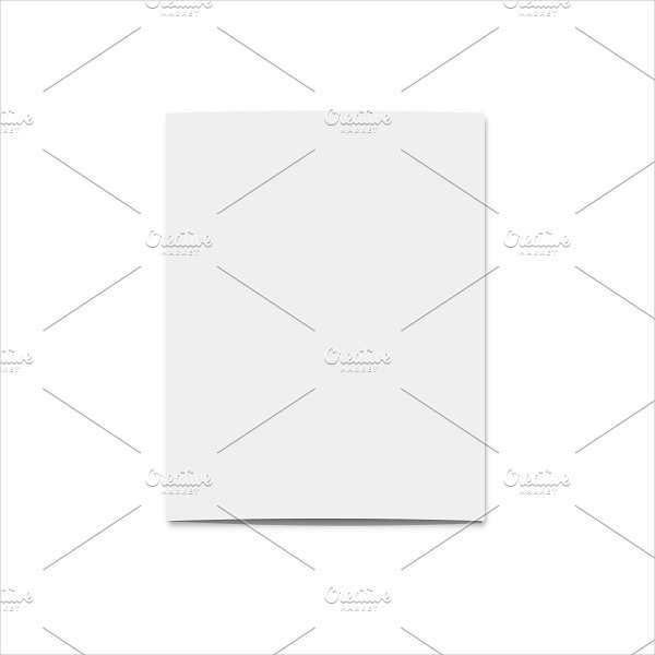 Realistic Blank Card for Design