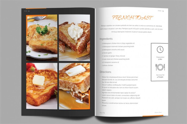 Clean Cookbook Template InDesign