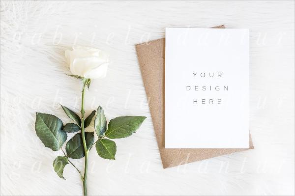 Rose Invitation Vertical Mockup