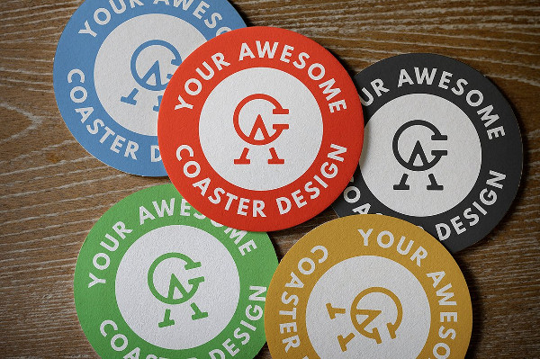 Round Coaster PSD Mockup Pack