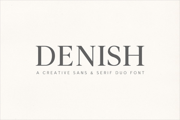 Sophisticated Serif and Sans Serif Font Duo