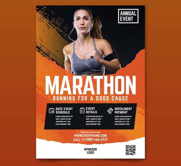 Sports Flyer with Image Free Download