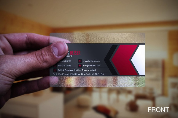 Stylish Business Card for Fitness Trainer