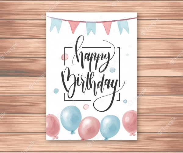 Stylish Card with Confetti Free Download