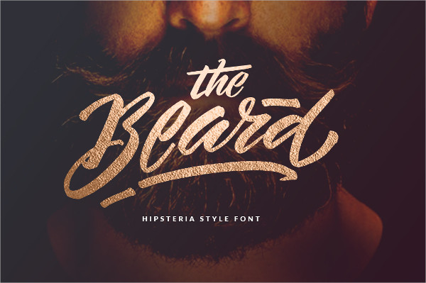 The Beard Hipster Fonts