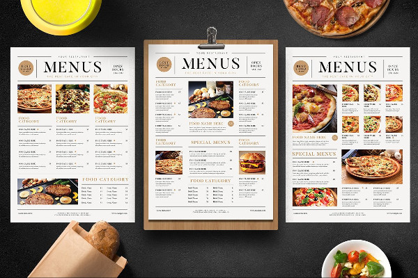 Universal Breakfast Menu Templates