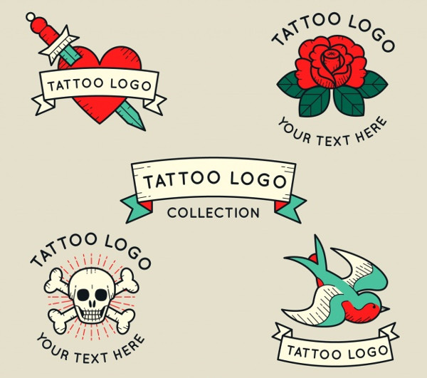 Vintage Collection of Tattoo Artist Logos Free