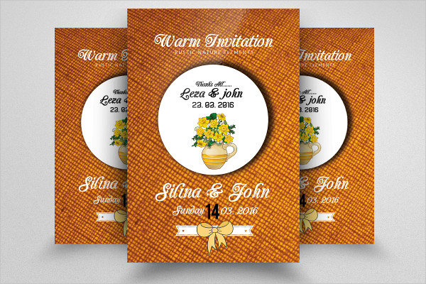 Warm Wedding Invitation Party Flyer