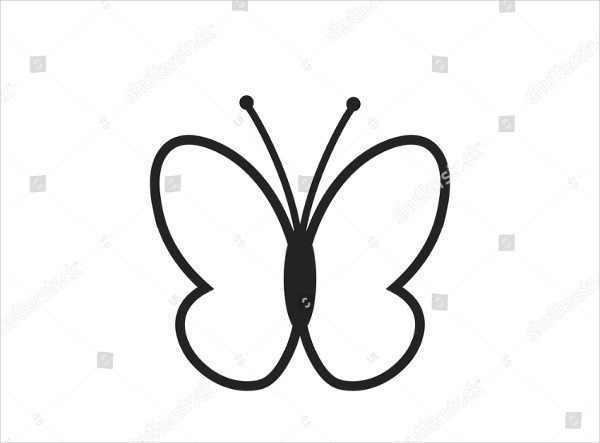 Unique Butterfly Icon Vector