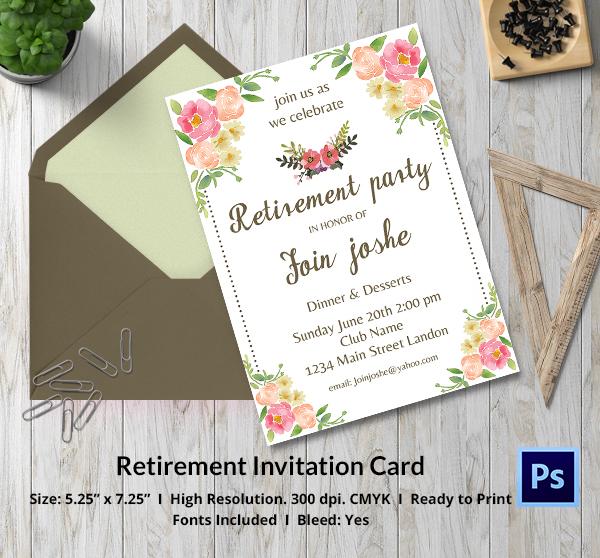 Elegant Retirement Invitation Ideas