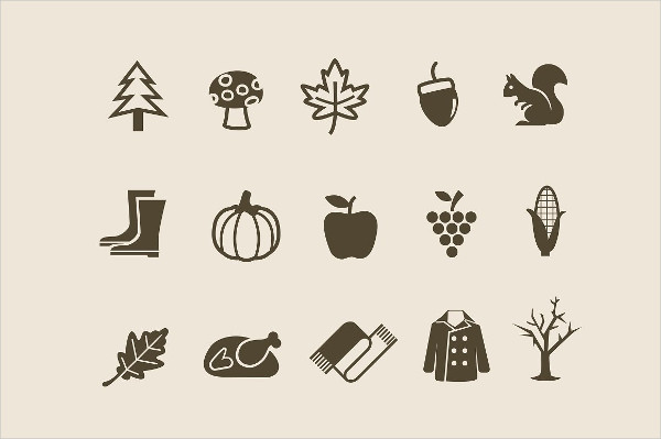 15 Autumn And Fall Icons
