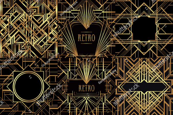 Art Deco Vintage Patterns and Frames
