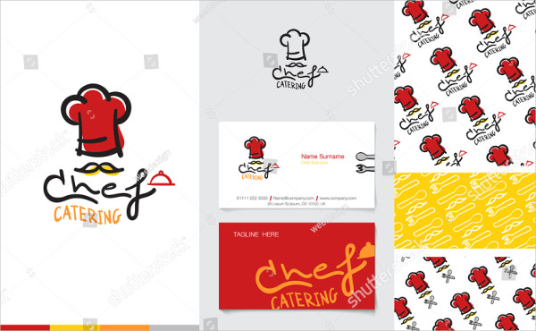Catering Logo with Business Card Template