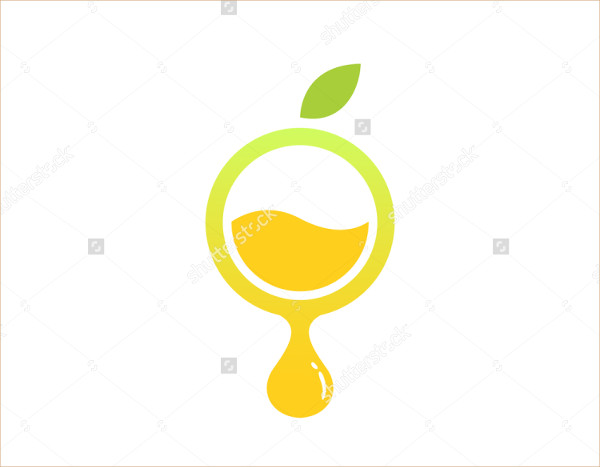 Circle Lemons Fluid Natural Drink Logo