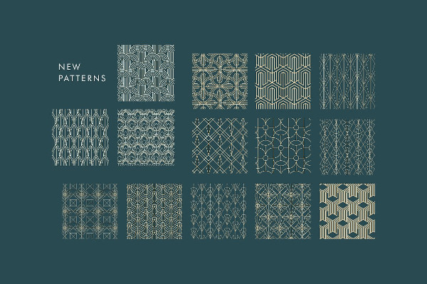 Classy Set of Art Deco Seamless Patterns