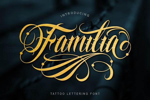Clean and More Complex Tattoo Font