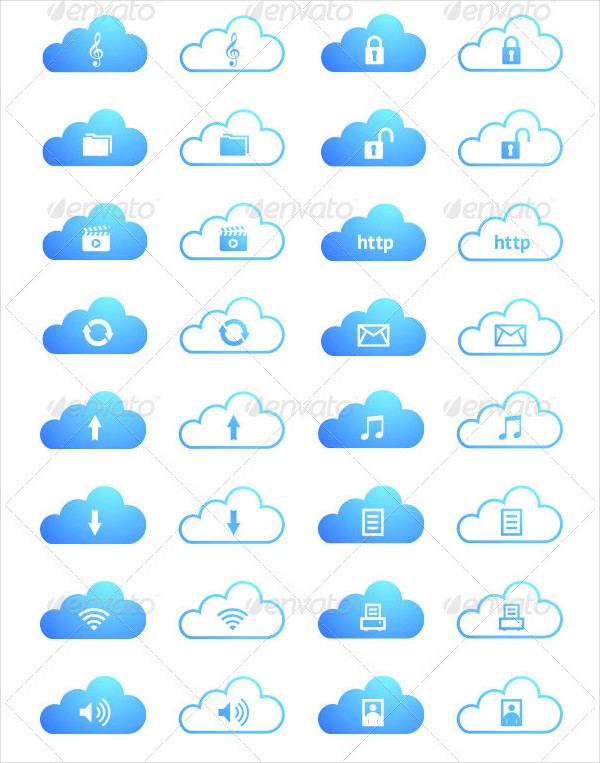 Cloud Computing Icon Collection
