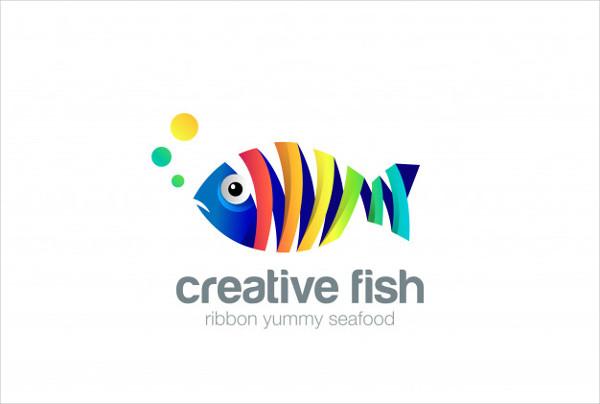 Colorful Seafood Logo Free Download