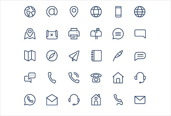 Contact Line & Mini Icon Collection