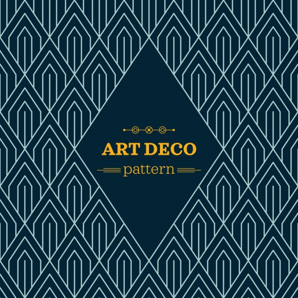 Dark Art Deco Pattern Free Download