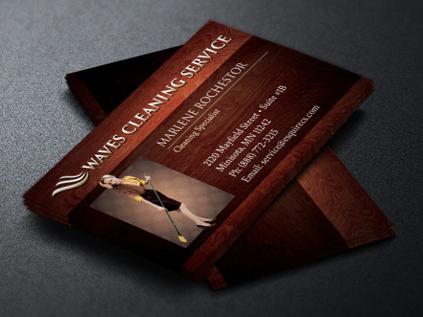 Elegant Cleaning Service Business Card Design