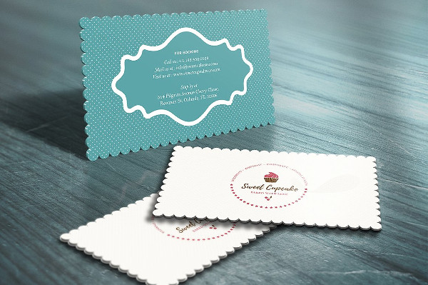 Hotel Die Cut Business Card Template