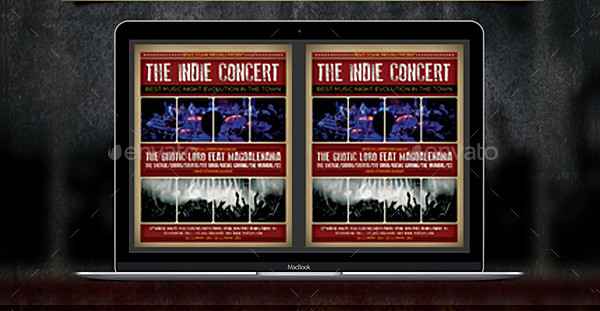 Indie Concert Music Flyer or Poster