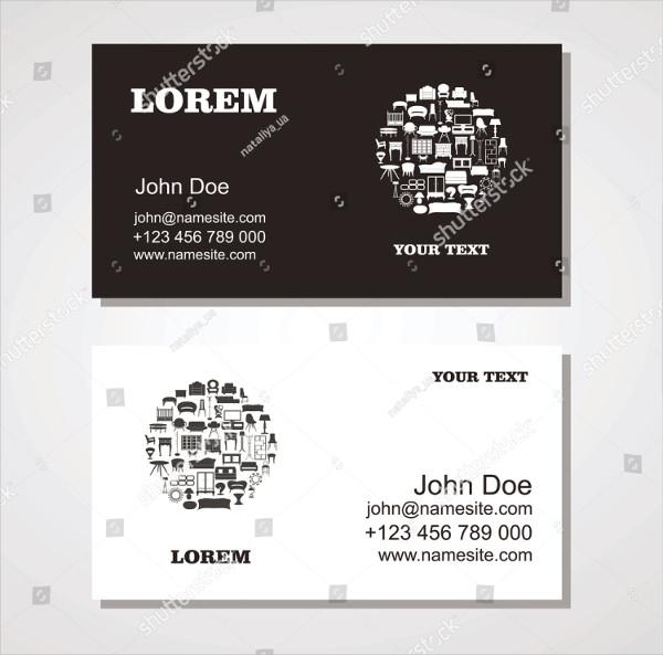 Custom Interior & Furniture Design Business Card